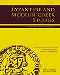 Byzantine and Modern Greek Studies