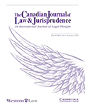 Canadian Journal of Law & Jurisprudence