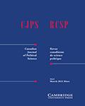 Canadian Journal of Political Science/Revue canadienne de science politique