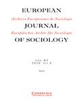 European Journal of Sociology / Archives Européennes de Sociologie