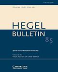 Hegel Bulletin