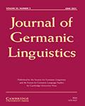 Journal of Germanic Linguistics