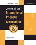 Journal of the International Phonetic Association