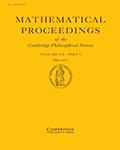 Mathematical Proceedings of the Cambridge Philosophical Society