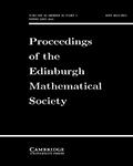 Proceedings of the Edinburgh Mathematical Society