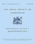 Proceedings of the Royal Society of Edinburgh Section A: Mathematics