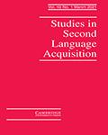 Studies in Second Language Acquisition