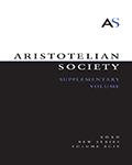 Aristotelian Society Supplementary Volume.