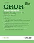 GRUR International: Journal of European and International IP Law