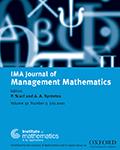 IMA Journal Of Management Mathematics