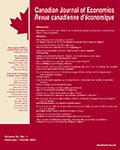 Canadian Journal of Economics (Revue canadienne d'économique)