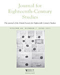 Journal For Eighteenth-Century Studies